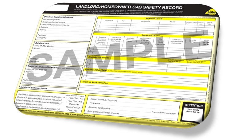 Landlords Gas safety Certificates